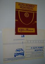 Uso E Manutenzione Alfa Romeo Montreal mit V8 Motor Februar 1971!