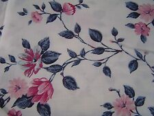 Pretty, Light and bright floral fabric, 2 yards, 44 inches wide F-1