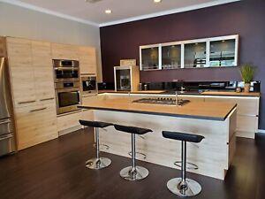 modern european kitchen cabinets handleless display kitchen, sink & countertop