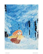Moomin Póster Miffle in el invierno Bosque 24 x 30 cm