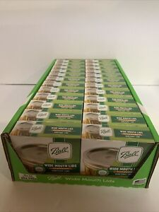 Bulk Lot of 24 Boxes (288 Lids) Ball Wide Mouth Mason Jar Lids for Canning