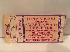 Diana Ross Concert Ticket 10-6-1984 Buffalo NY
