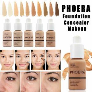 PHOERA Foundation Concealer Make Up Soft Brighten Matte Full Coverage Liquid UK