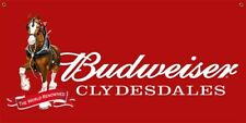 New Budweiser Clydesdale 130z 2' x 4' Indoor/Outdoor Banner