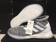 NEW! Adidas Men's Predator 19.1 TR Soccer Shoes Grey/White/Black Sz: 10