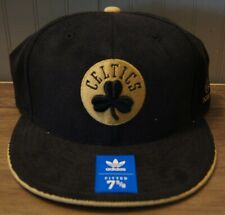 New! Boston Celtics NBA Black/Gold Fitted 7-5/8 Baseball Hat by Adidas