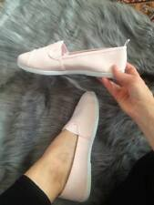 Womens Light Pink Slip On Flat Canvas Shoes Ladies Trainers Loafers Primark NEW