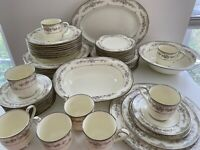 Elegant NORITAKE SHENANDOAH 9729 50 Piece Set 8 Place Settings EUC!