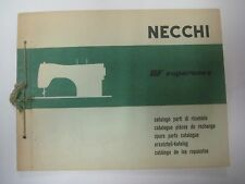 Vintage 1956 NECCHI Sewing Machine BF SUPERNOVA Manual Spare Parts Catalog
