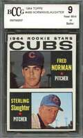 Fred Norman / Sterling Slaughter Rookie Card 1964 Topps #469 Cubs BGS BCCG 9