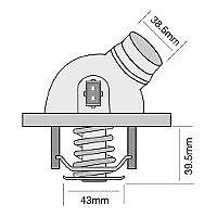 TRIDON Std Thermostat For BMW 740iL E38 10/98-12/00 4.4L M62 B44