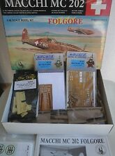 FOLGORE MACCHI MC202 1/48 SCALE TAURO MODEL + RESIN COCKPIT+N.2 PHOTOETCHED