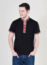Ukrainian embroidered t-shirt for man sorochka, vyshyvanka of short sleeves