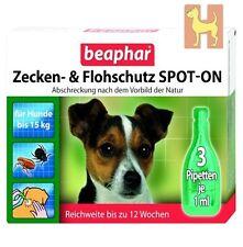 Beaphar Zeckenschutz Flohschutz SPOT-ON Tropfen kleine Hunde gegen Flöhe Zecken