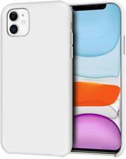 "For iPhone 11 (6.1"") - Anti-Slip Liquid Silicone Gel Rubber Bumper Case WHITE"
