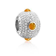 【KOOJADE】 KJade 925 Sterling Silver Yellow Jadeite Ball Charm