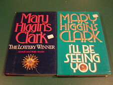 MARY HIGGINS CLARK - I'LL BE SEEING YOU & THE LOTTERY WINNER - HBDJ  LOT OF 2