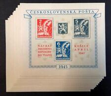 Czechoslovakia #310 10 Sheets of 4 1945 MNH