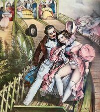 Erotic Antique Art Nude Vagina Fair Love Romance Sex France Penis Volksfest 1840