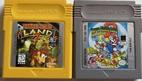 Super Mario Land 2:6 Golden Coins Nintendo Game Boy Authentic&Donkey Kong Land 2