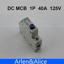 1P 40A DC 125V Circuit breaker MCB
