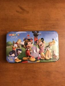 Disney Jr Japan Mickey Mouse  Puzzle in a Tin 60 pieces Minie Donald Pluto