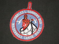 Charles L. Sommers Wilderness Canoe Base cut edge Pocket Patch        sg