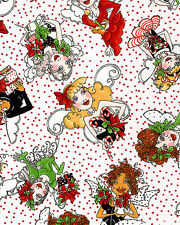 Christmas Fairy Fairies Lady Toss Cotton Fabric Loralie Designs By The Yard