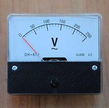 0 - 250V AC Voltmetro ANALOGICO PANNELLO VOLTMETRO ANALOGICO ys-670 per 220v 240v Rete