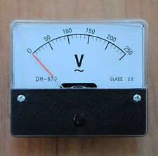 0- 250V AC Voltmeter Analogue Panel Volt Meter Analog YS-670 for 220V 240V Mains