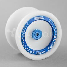 Zeekio Quasar Yo-Yo - White Delrin with Blue Metal Ring