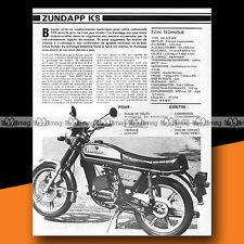 ★ ZUNDAPP KS 125 WK ★ 1979 Essai Moto / Original Road Test #a302