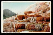 c1907 Pulpit Terraces Yellowstone National Park landscape postcard