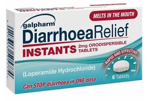 3x6 Galpharm Diarrhoea Relief Instant Orodispersible 6 Tablets 2mg Loperamide
