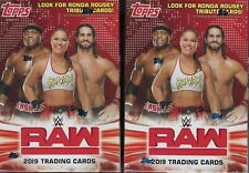(2) 2019 Topps WWE RAW New Wrestling Trading Cards 71c Retail BLASTER Box LOT