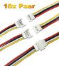 (20 Stück) 10 Paar Walkera Molex 4 Pin 2.0 Molex Stecker + 15cm 26AWG Kabel