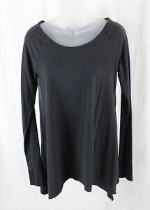 Lululemon Women's Black Long Sleeve Shirt Top Size 8