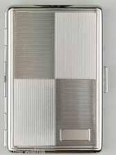 Étui à Cigarettes Chrome poli Design en relief Espace de gravure 16 Kingsize/