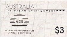 Australia 1989, SG SB 66, Urban Environment, Gold Overprint NZ 1990