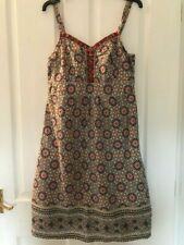 *Stunning* Aztec Print Fully Lined Sun Dress by TU Size 10