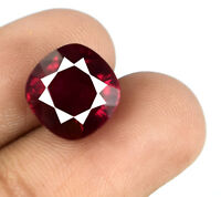 Burma 8-10 Ct Red Ruby Gemstone 100% Natural 10 x 10 mm Cushion AGSL Certified