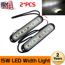 2X 15W LED Width Lights Strip DRL Driving Bumper Jeep UTE Outdoor Camping Lights