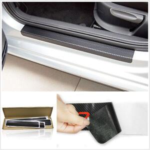 4 Pcs 3D Carbon Fiber Style Car Door Plate Sill Scuff Anti-kick Scratch Sticker