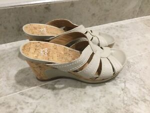 VA Milano Leather Wedge Slip On Mule Sandle Uk5.5