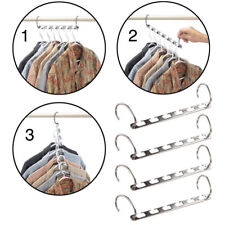 Multi Racks Hooks Wardrobe Closet Organizer Suit/Shirt/Pants Coat Hangers Set