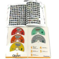 Broderbund Click Art 65,000 Users Guide & Visual Catalog 5 Cd Window 95