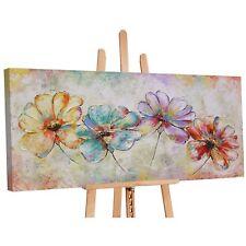 100% Handgemalt Acryl Gemälde handgemaltes Wand Bild Kunst Leinwand Blumen