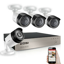 ZOSI Full HD 1080P 4CH DVR Recorder CCTV Außen Video Überwachungskamera System