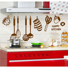 Creative Funny Happy Cooking for Kitchen Art Wall Sticker | Home Decor Removable