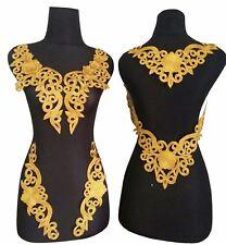 Lace Neckline Trim Applique Embroidery Patch Motif Embellishments Decorative